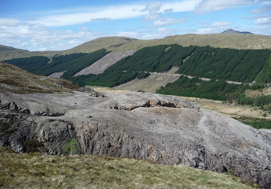 Upper levels of Tyndrum lead mine, Stirlingshire