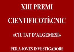 "XIII scientific and technical contest ""Ciudad de Algemesí"" for young researchers"