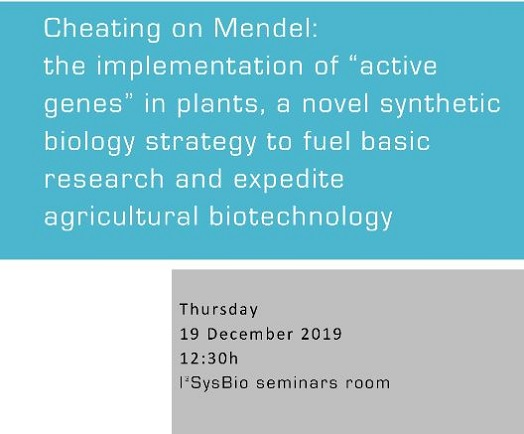 "Cheating on Mendel: The implementation of ""Active Genetics"" in plants, a novel Synthetic Biology strategy to fuel basic research and expedite agricultural biotechnology"
