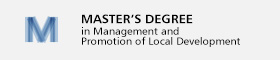 banner Master's degree in Management and Promotion of Local Development