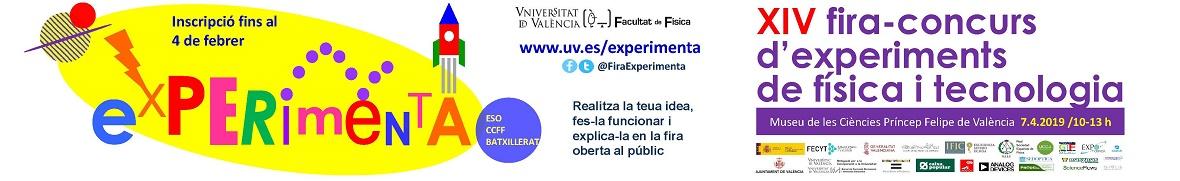 Participa en la XIV Fira - Concurs Experimenta 2019