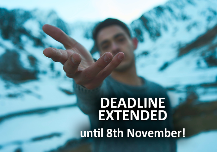 Deadline Extended until 8th November