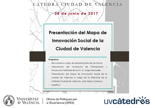 The City of Valencia Chair presents the social innovation map