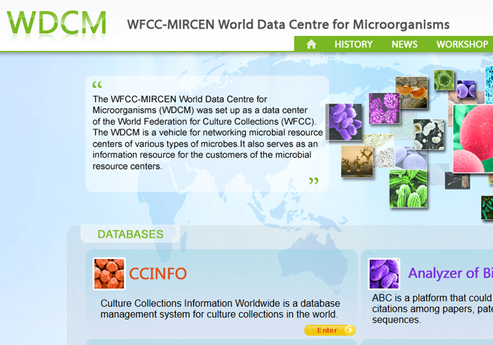 World Data Center for Microorganisms (WDCM)