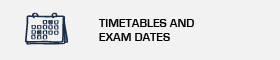 Undergraduate degrees timetables and examans