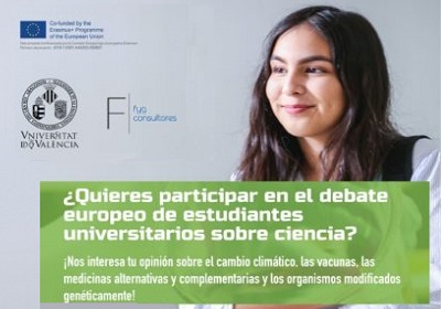 event image:Poster of the students European science debate