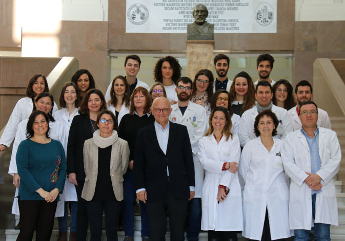 Research team of Mª Carmen Gómez Cabrera and José Viña, at the Faculty of Medicine of the University of Valencia.