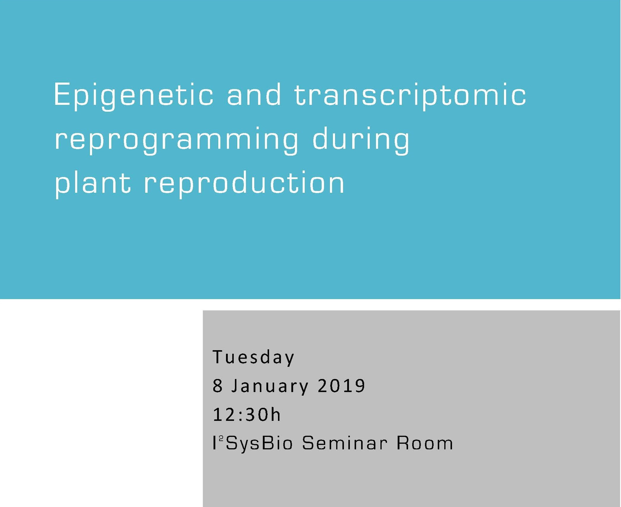 Epigenetic and transcriptomic reprogramming during plant reproduction