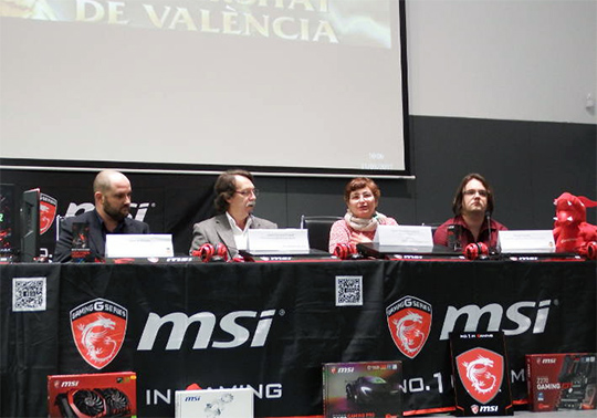 Presentación en la ETSE del I Torneo League of Legends de la Universitat de València.