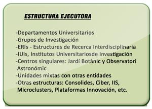 Estructura Ejecutora