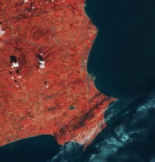Imagen realizada por el satélite Sentinel de Crotone, Italia