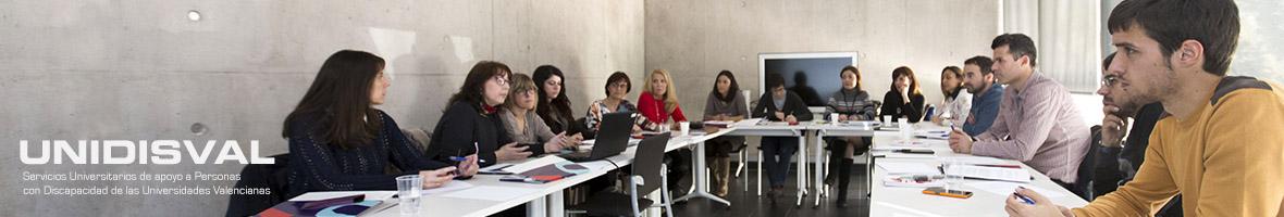 Enlace a la web de los Serveis universitaris de suport a persones amb Discapacitat de les Universitats Valencianes (UNIDISVAL)