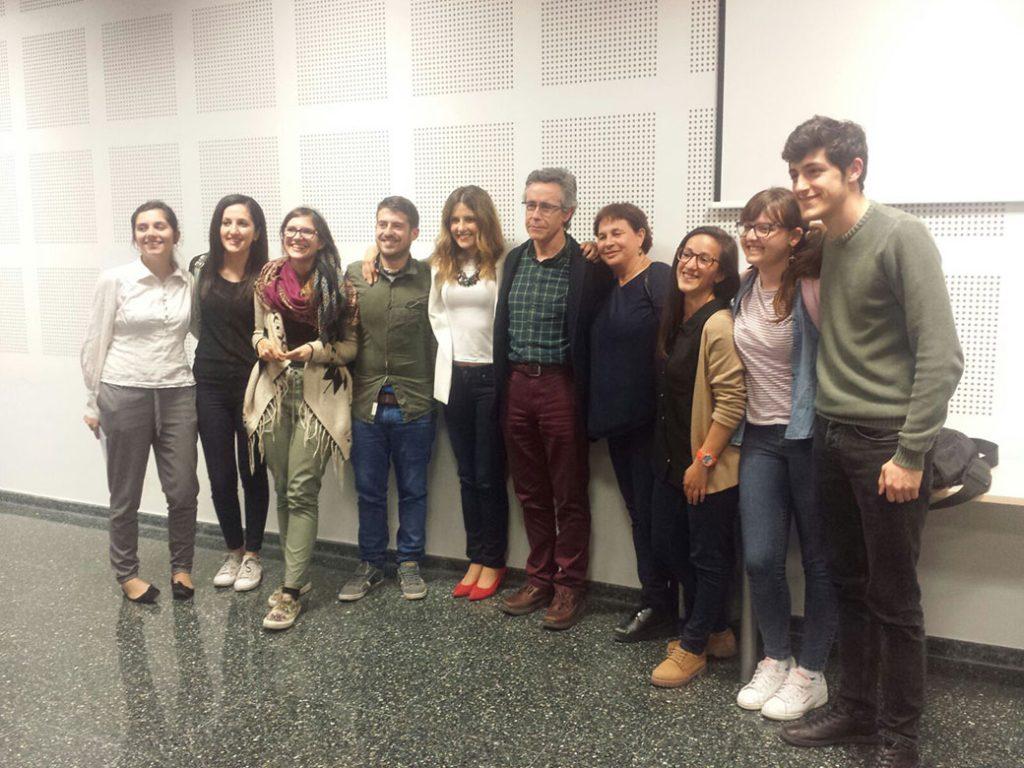 Foto de grup amb Ana García