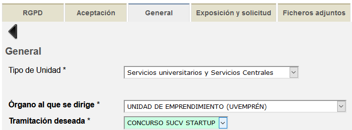 instancia general - 5UCV