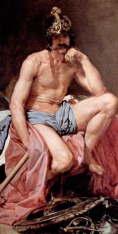 El descanso de Marte. (Diego Velázquez)
